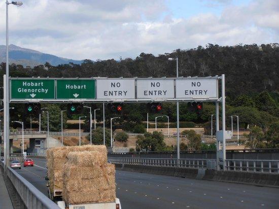 Tasman Bridge:                   Over the other side toward Hobart - near Port exit