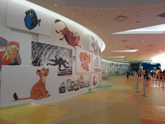 Disney's Art of Animation Resort:                   Main lobby wall
