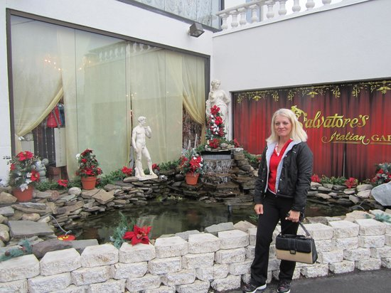 Salvatore's Italian Gardens :                   Outside the restaurant