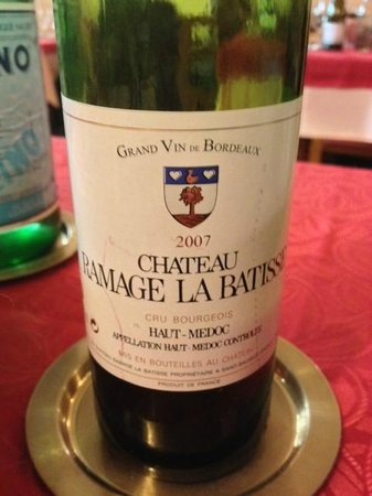 Restaurant Chez Max :                   The nicest red wine we had in Europe