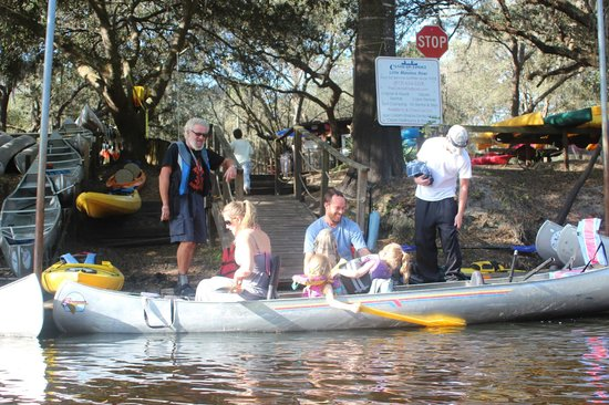 Canoe Outpost - Little Manatee River:                   smiles are free