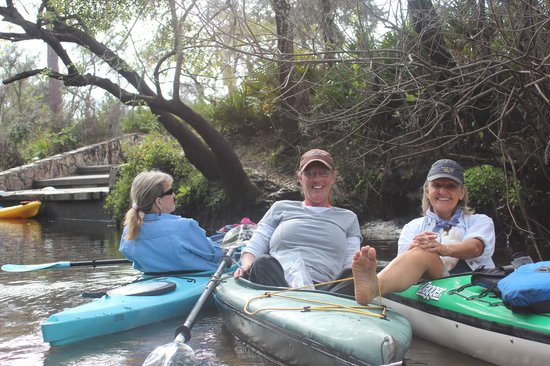 Canoe Outpost - Little Manatee River:                   a place to put your 'feet-up'