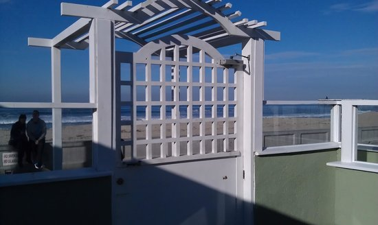 The Beach Cottages:                   The gate right outside the door of beachfront cottage