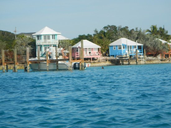 Staniel Cay Yacht Club :                   view from our boat they provide with the room