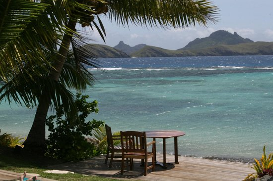 Tokoriki Island Resort:                   View at Breakfast