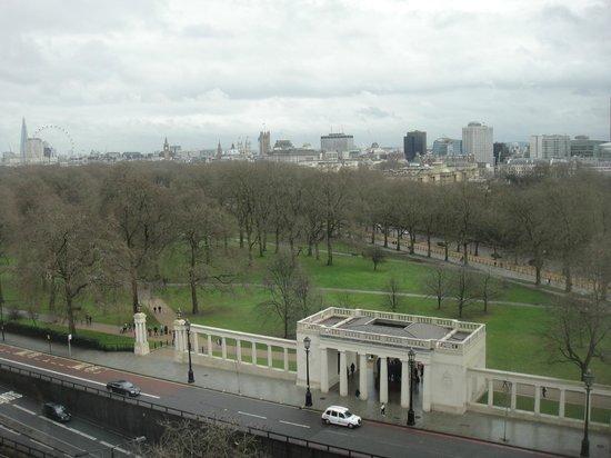 InterContinental London Park Lane:                   Daytime view from our room at Intercontinental Park Lane                 