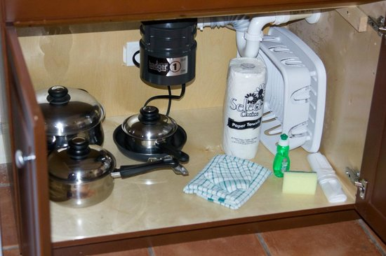 Grande Villas Resort:                   More kitchen equipment underneath the sink