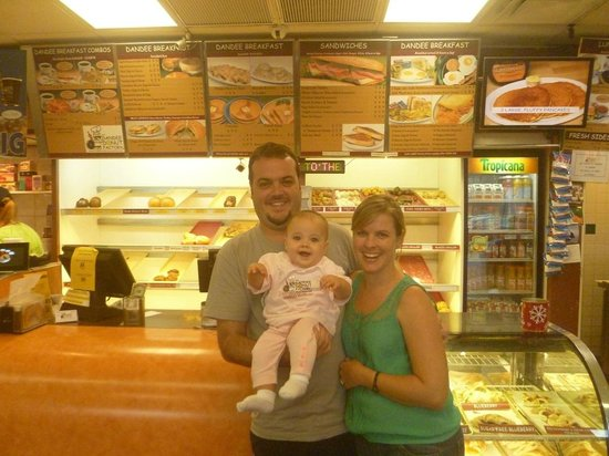 Dandee Donut Factory:                   Our daughter's first visit to Dandee Donuts (X'mas 2012)