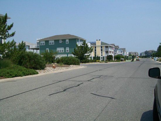 Cape Henlopen State Park: condos right outside of entrance to the park