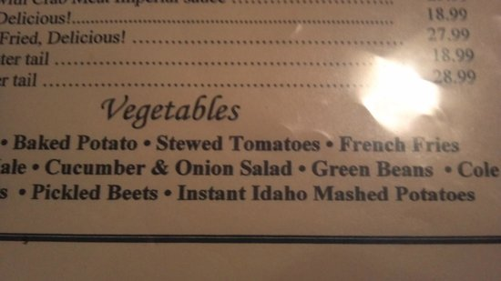 House of Welch: Instant mashed potatoes on the menu?