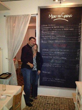 L'Osteria Restaurante:                   Daily changing menu at L'Osteria!