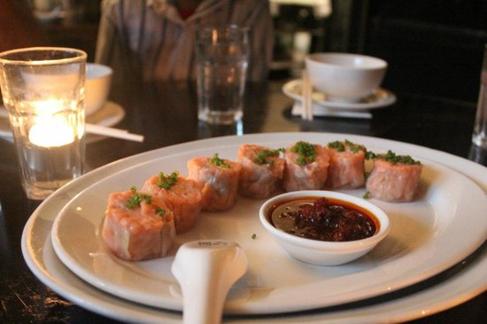 Billy Kwong: Steamed 'Mark Eather' Ocean trout Shumai with XO sauce