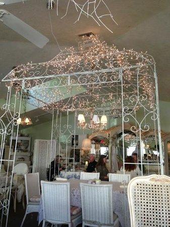 The Garden Gate Tea Room: inside
