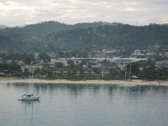 Ocho Rios Fort: downtown of ocho rios