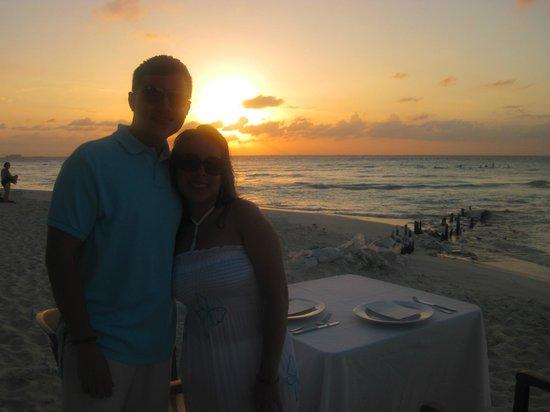 Na Balam Beach Hotel:                   Sunset                 