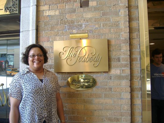 The Peabody Memphis:                   Angela at the Entrance