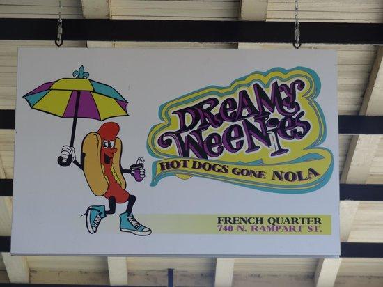Dreamy Weenies: Delightful sign