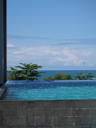 Mercure Padang:                   View from the pool