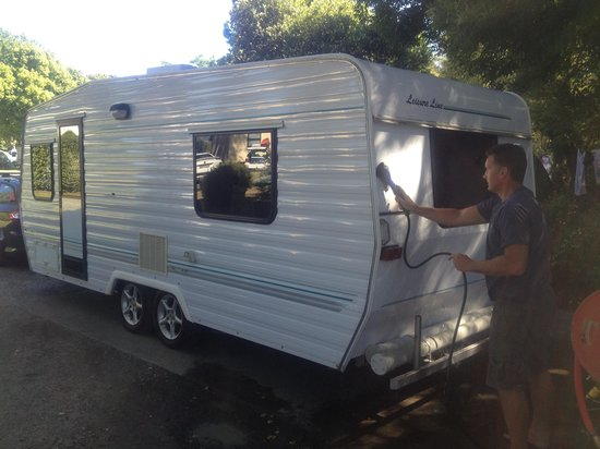 Motueka TOP 10 Holiday Park:                   Even a very good caravan washing facility