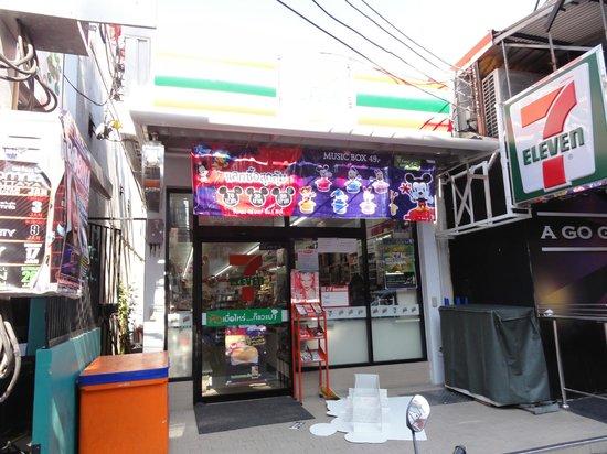 Grand Hotel Pattaya: 目じるしのセブンイレブン