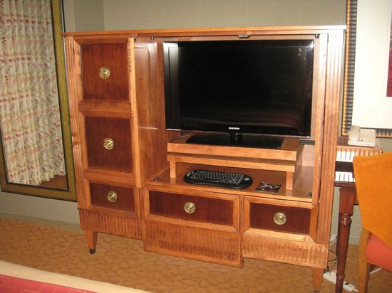 Lansdowne Resort and Spa:                   Flat-screen TV and console
