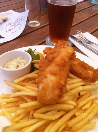 Eagle Bay Brewing Co: great fish and chips