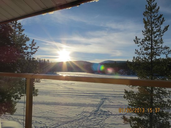 Idabel Lake Resort:                   View from the Minnow Suite over the lake
