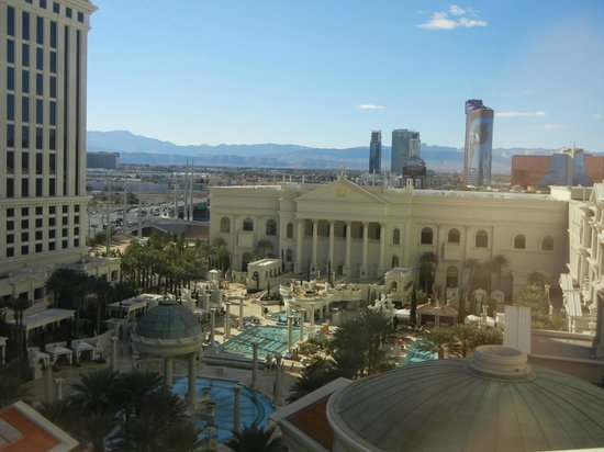 Caesars Palace:                   view from the window (roman tower)