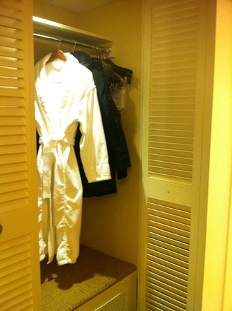 Montreal Marriott Chateau Champlain: Closet/dressing room area