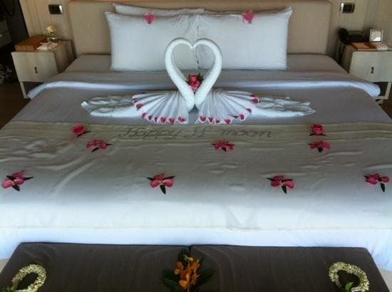 The Shore at Katathani:                   our bed! :)