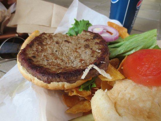 Aramark Hearst Castle Cafe: Frozen burger