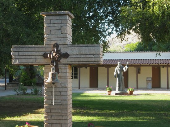Franciscan Renewal Center: In a courtyard