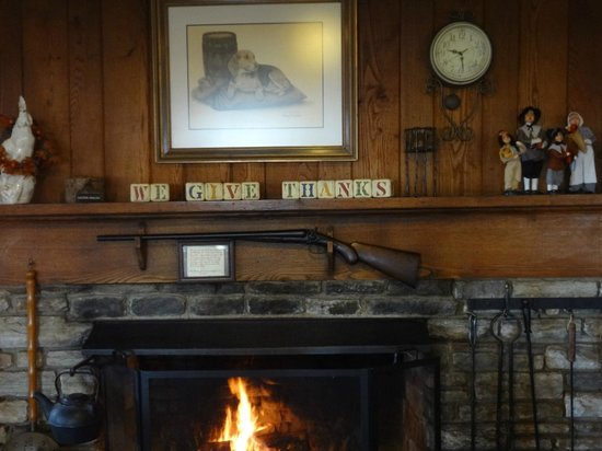 Hemlock Inn: The fireplace
