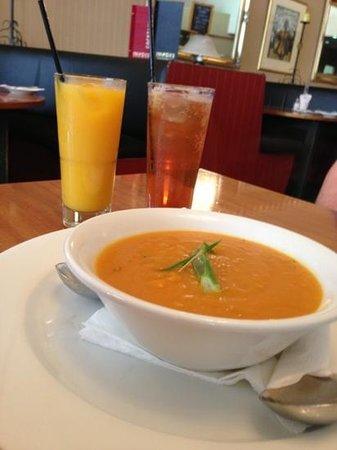 Images Restaurant:                   Sweet Potato and Pumpkin soup! Gluten free!! Amazing!!
