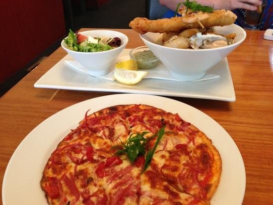 Images Restaurant:                   Gluten free pizza plus Seafood basket
