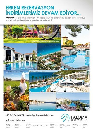 Paloma Grida Resort & Spa: Paloma Hotels Early Booking