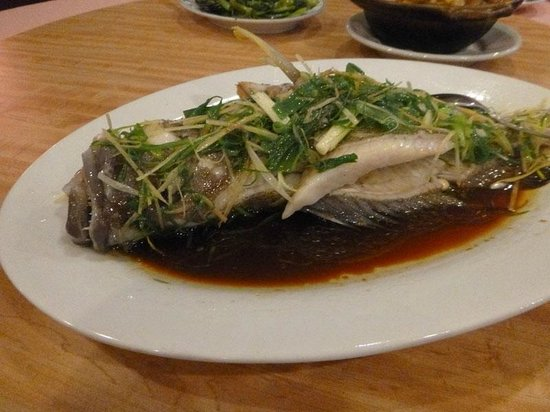 New Wei Tai Chinese Restaurant : steamed fish chinese style