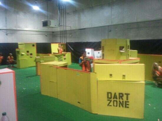 Dart Zone Meridian:                   kids plailying at Dartzone