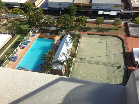 Points North Apartments:                   pool and tennis court