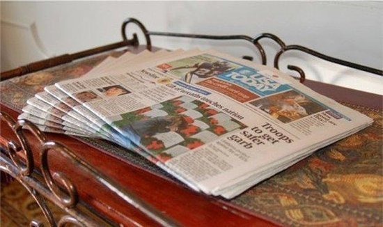 Baymont Inn & Suites Georgetown/Near Georgetown Marina: Newspaper