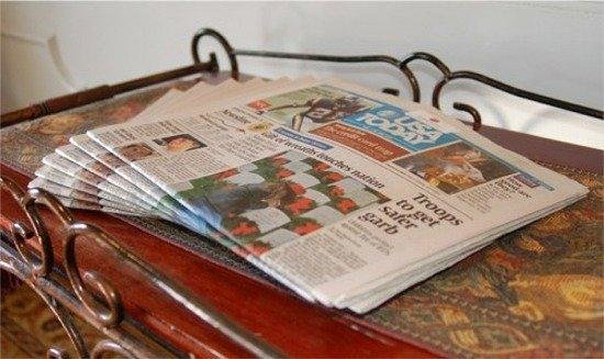 Baymont Inn & Suites Henderson Oxford: Newspaper