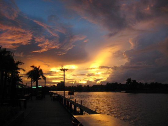 Wyndham Resort Denarau Island:                   Sunset taken from town.