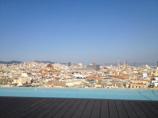 Hotel Barcelone Avec Piscine Sur Le Toit Andante Vue Depuis Le Toit - Hotel barcelone avec piscine sur le toit