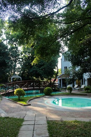 The Arusha Hotel:                   Pool and main building