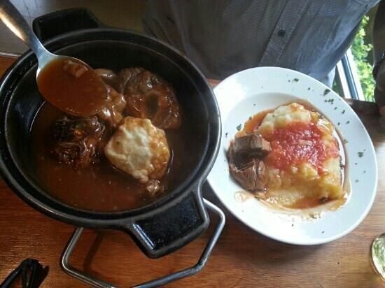 Boer'Geoisie:                                     Lamb potjie with dumpling.