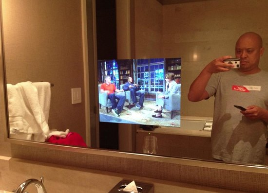 Trump International Hotel & Tower Chicago: LCD built into the bathroom mirror