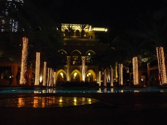 The Palace Downtown Dubai:                   pool at night