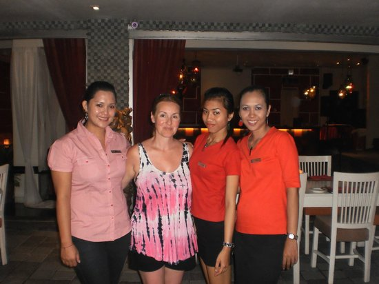The Breezes Bali Resort & Spa:                                     The gal's at D'base Resturant