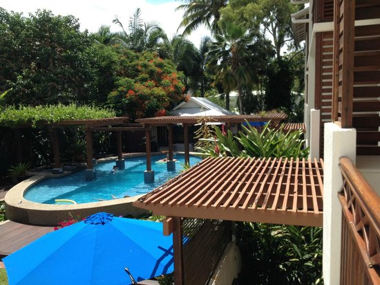 Freestyle Resort Port Douglas:                   view of pool from balcony