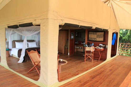 Serengeti Bushtops Camp:                   Would you call this just a tent